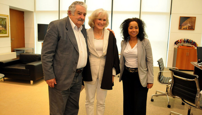 Jose Mujica with Glenn Close