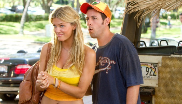 adam sandler in movie with blond woman