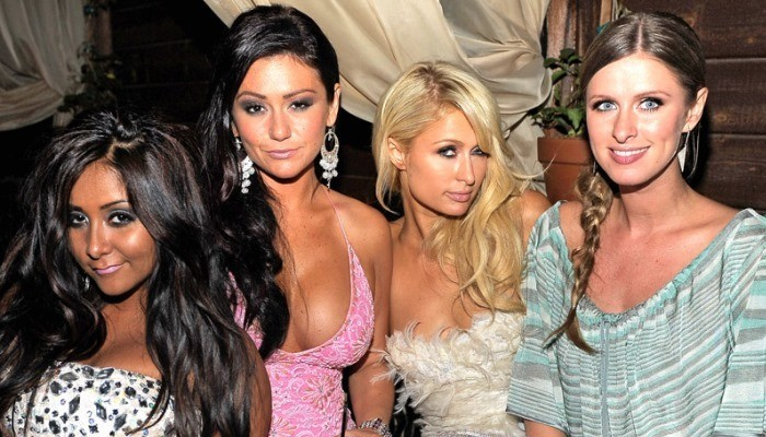 Paris Hilton with friends
