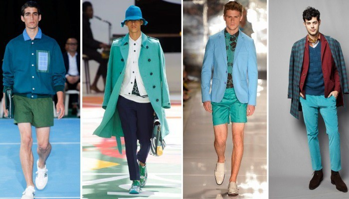 green with blue men trend 2015