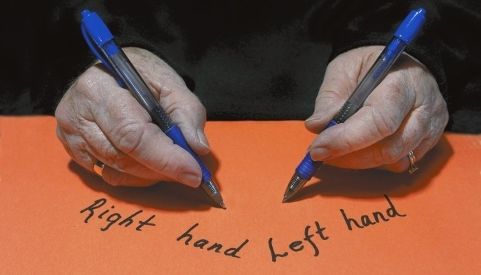 right hand left hand write