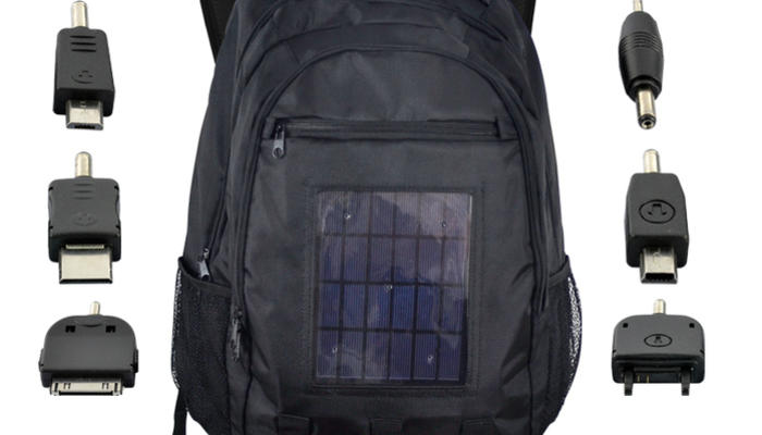 Solar-Powered Battery Charging Backpack