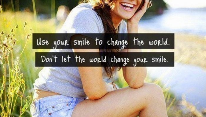smile to change the world