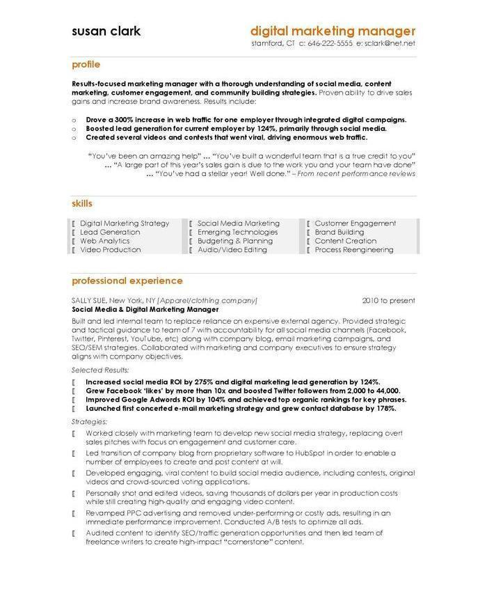10 Best Digital Marketing CV Examples & Templates
