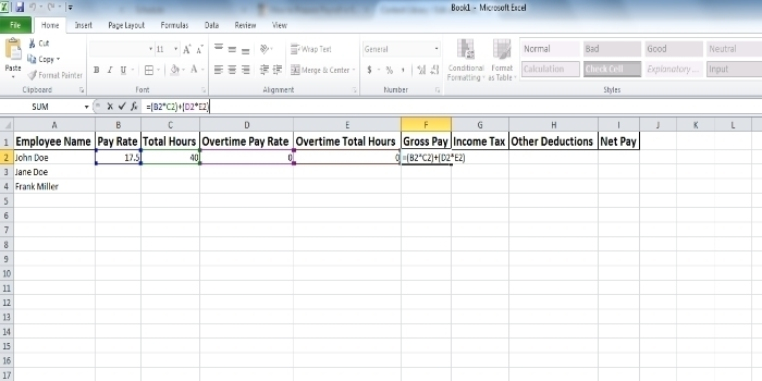 How To Prepare Payroll In Excel (With Pictures)