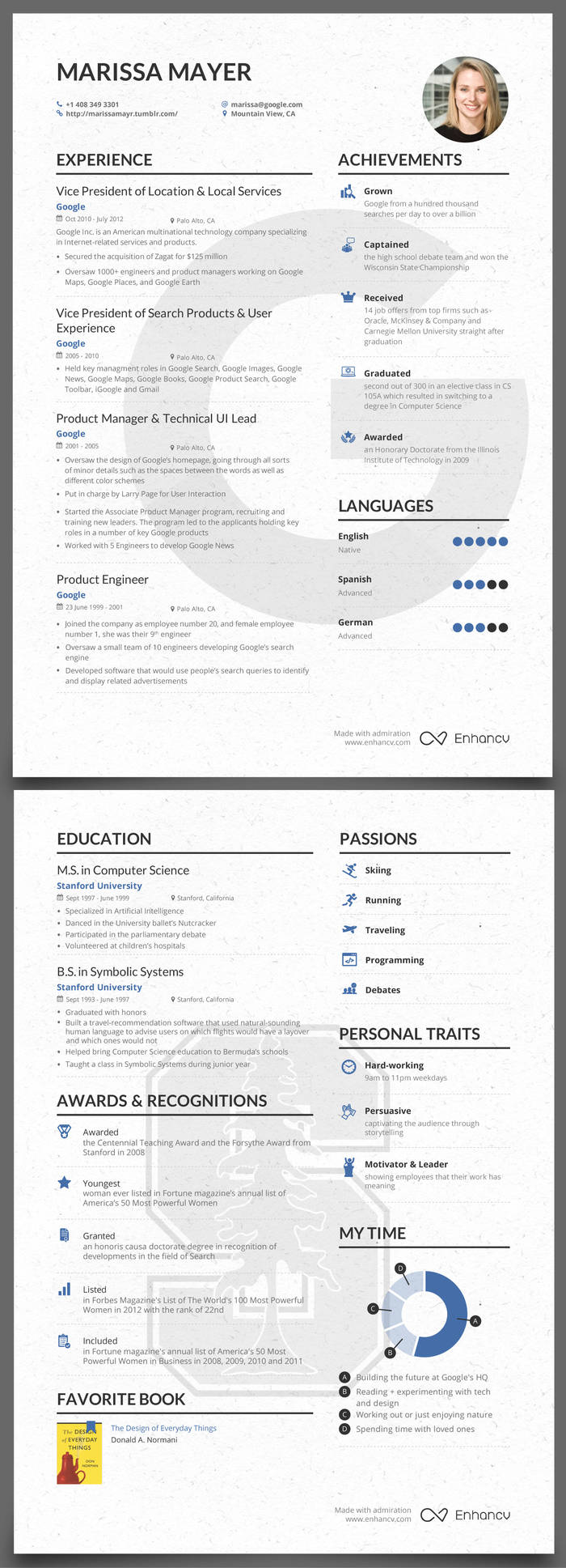 Resume Resumes By Marissa marissa mayers cv tips and tricks mayer infographic