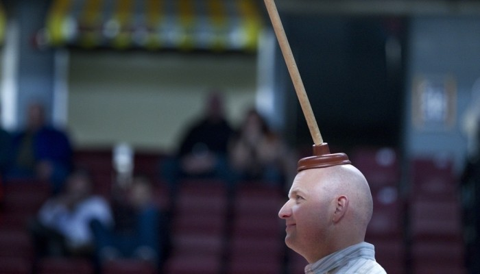plunger on head