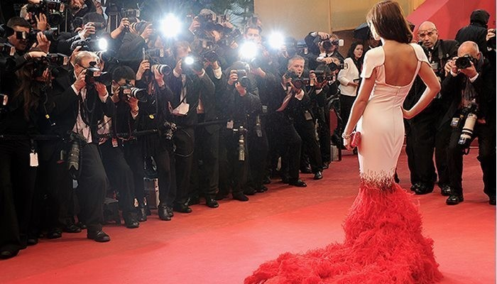 woman on red carpet