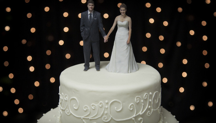 3D Wedding cake topper