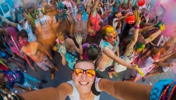 people at colour festival