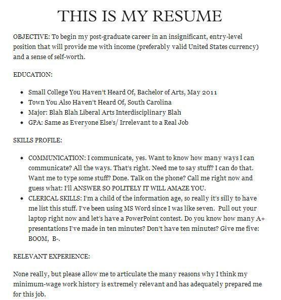 20 Of The Funniest Resumes And CVs You'll Ever See