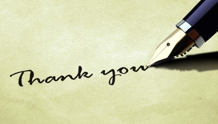 Writing A Thank You Letter from www.careeraddict.com