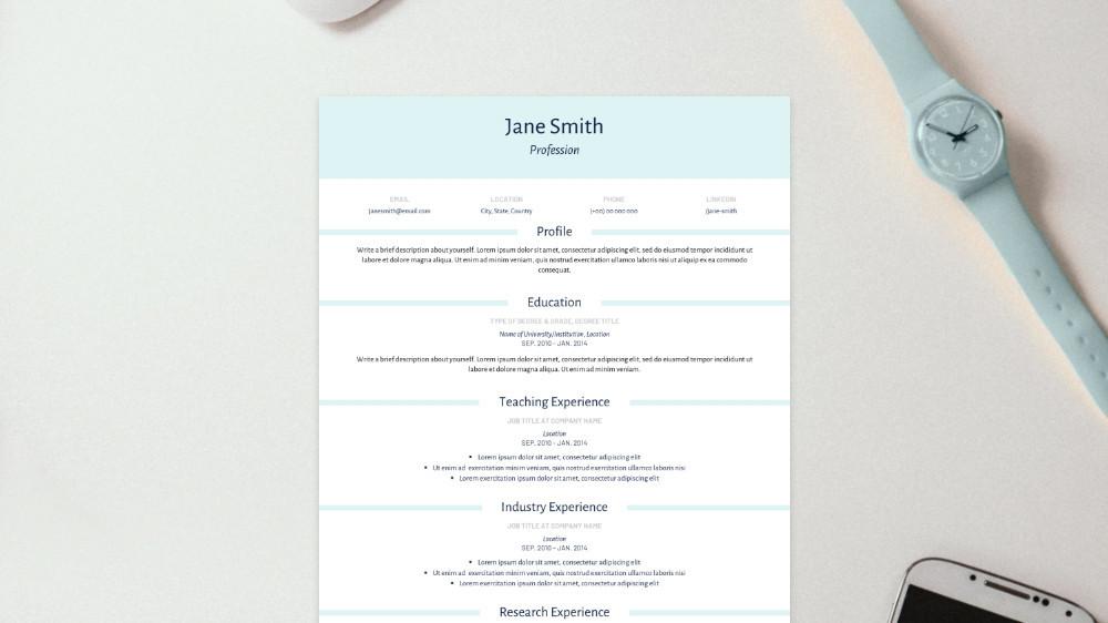Smart CV Template