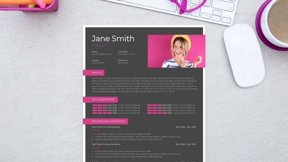 Box Grid CV Template