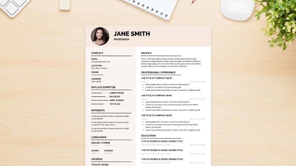 Fresh CV Template