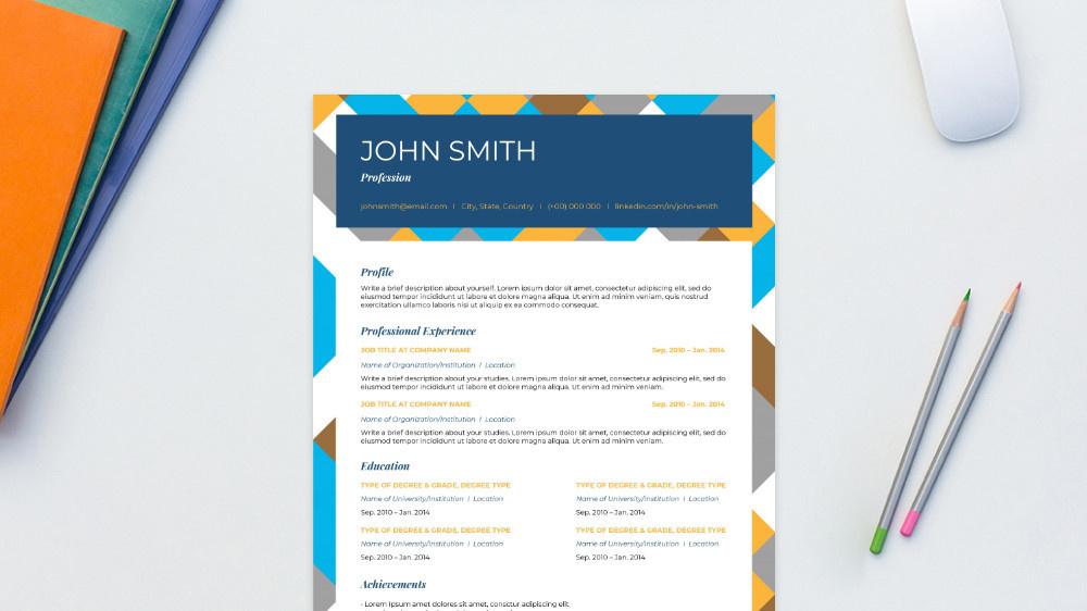 Visionary CV Template