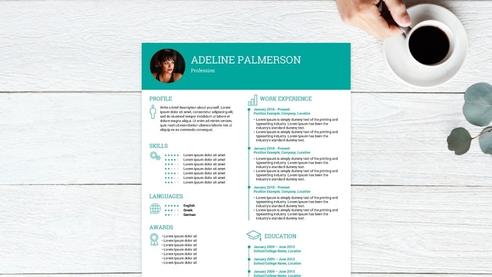 Iconic CV Template
