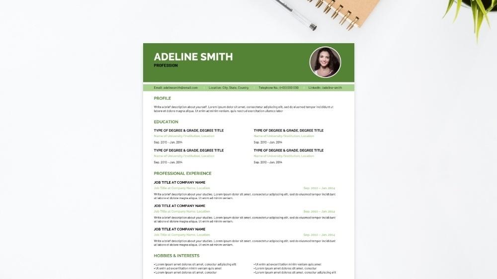 Pine CV Template