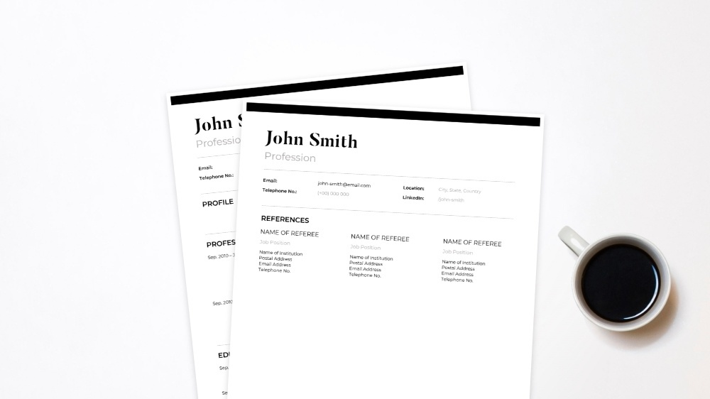 Balanced CV Template