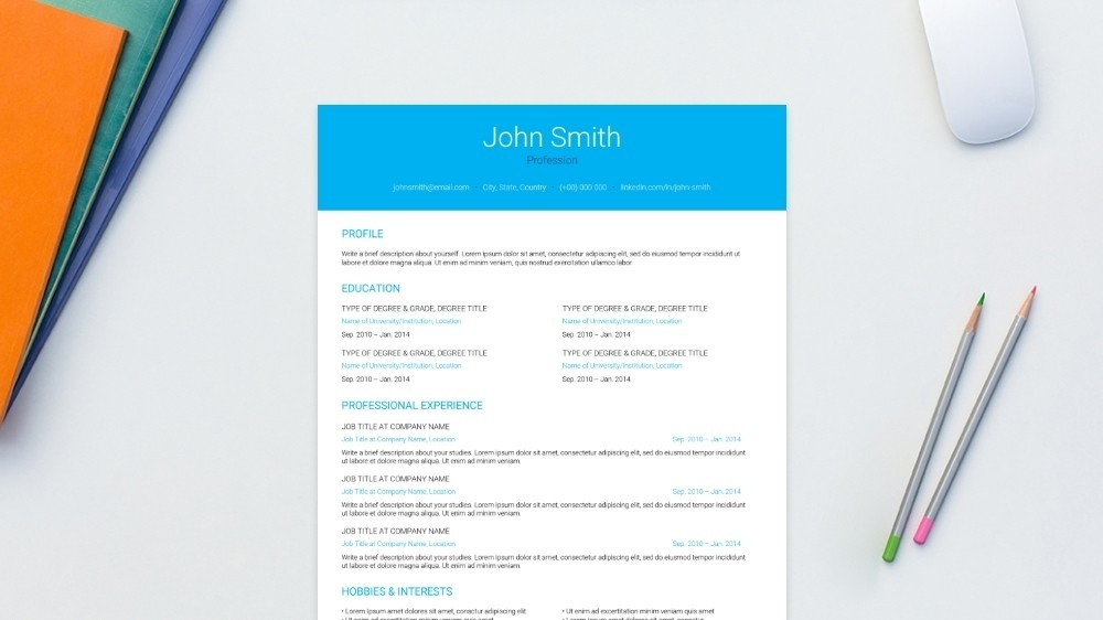 Transparent CV Template
