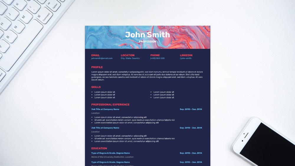 Whirl CV Template
