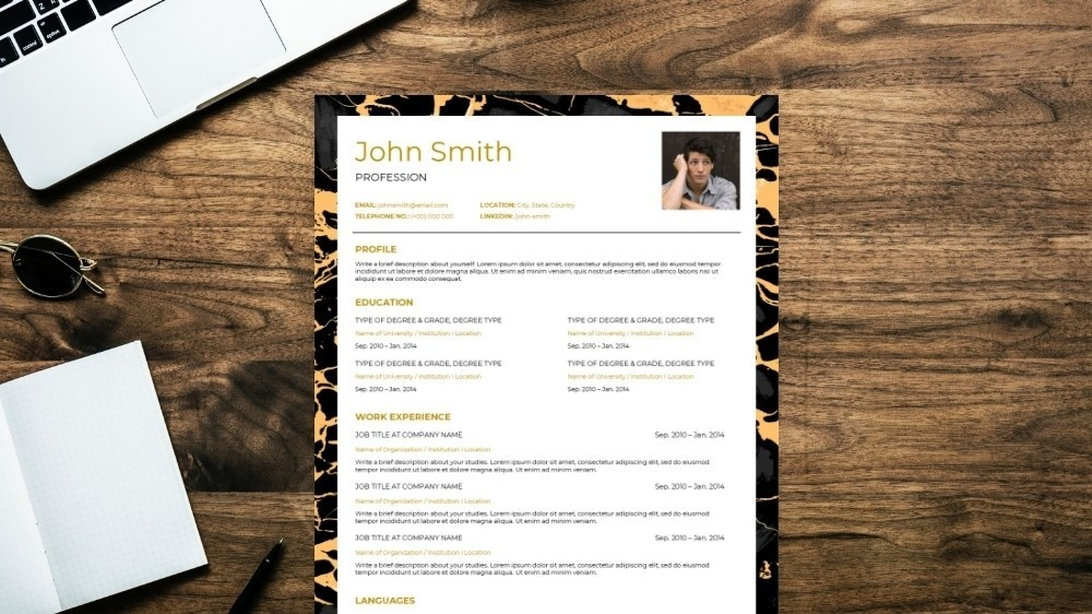 Camouflage CV Template
