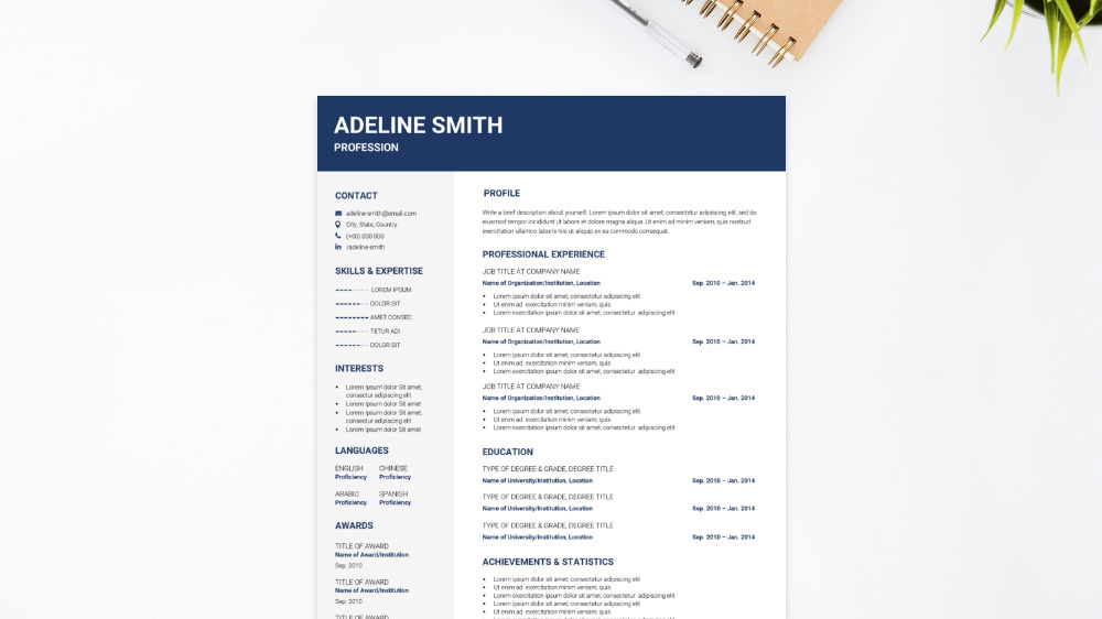 Corporate CV Template