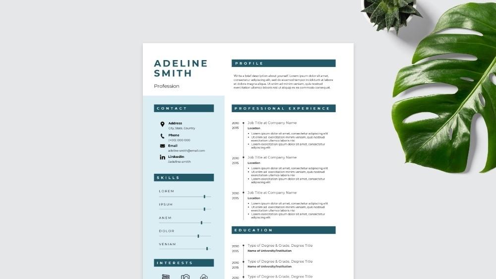 Bold CV Template