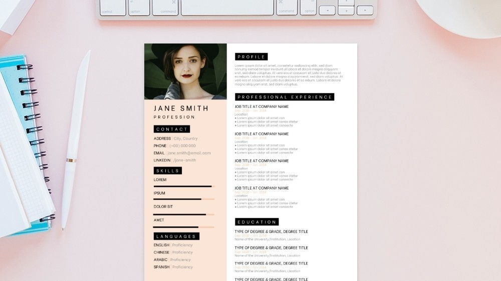 Stylish CV Template