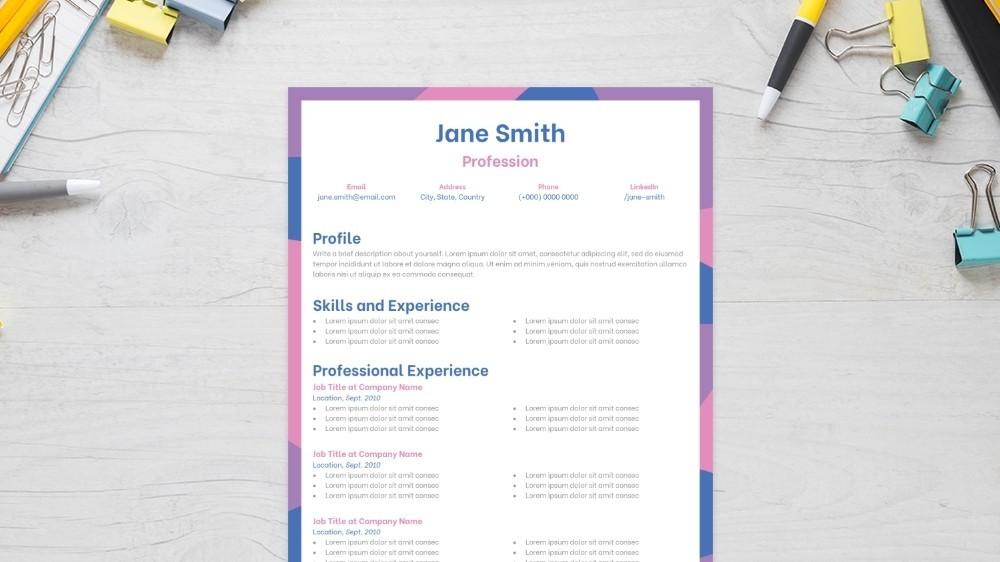 Gleeful CV Template