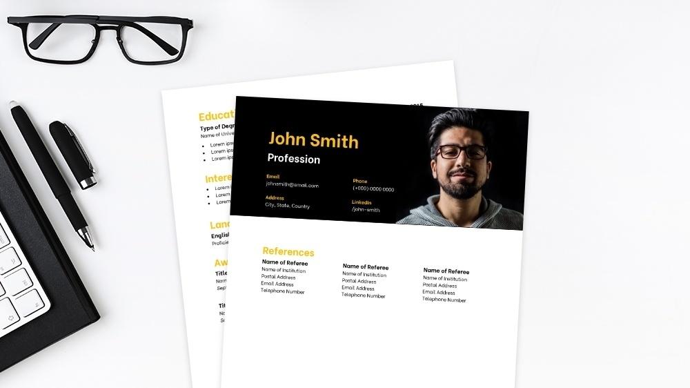 Striking CV Template