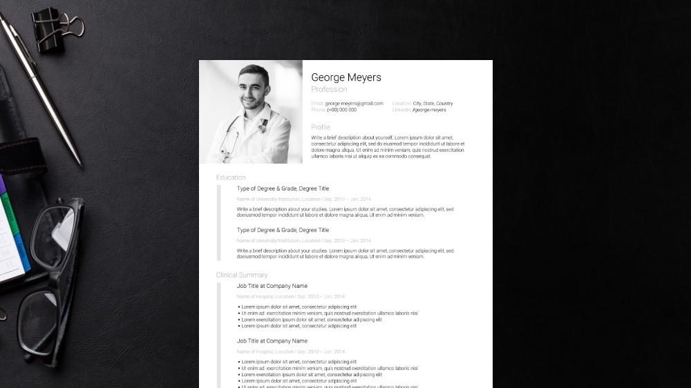 Distinct CV Template