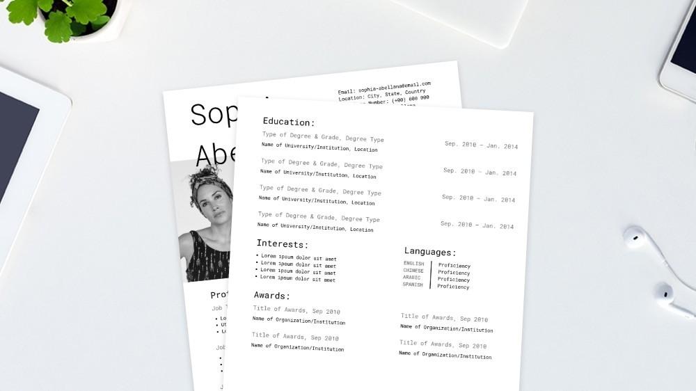 Typewriter CV Template
