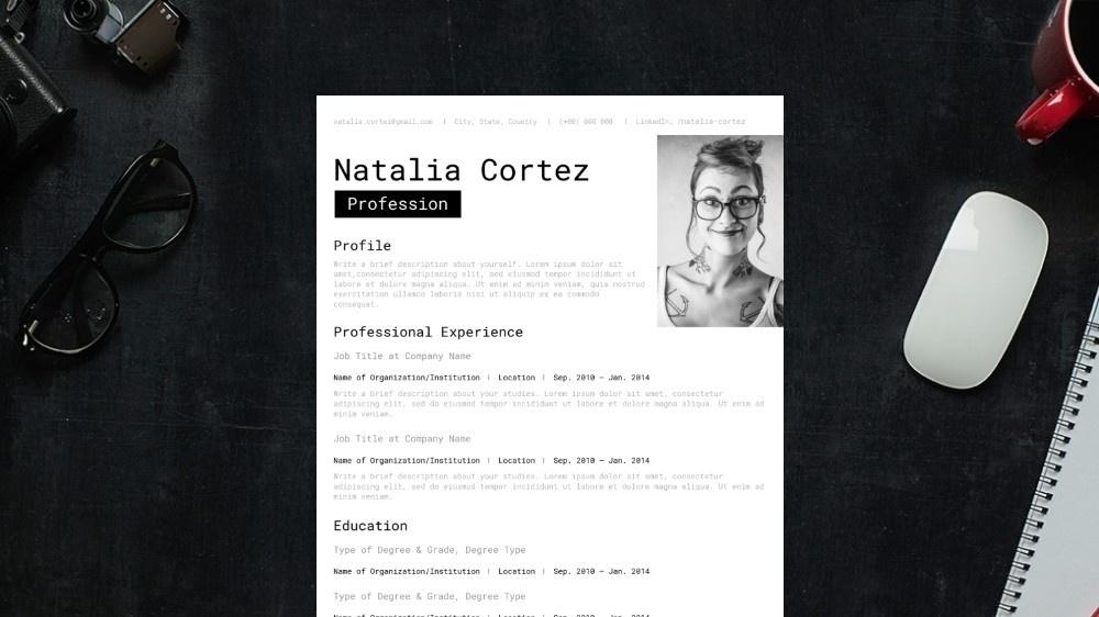 Alternative CV Template